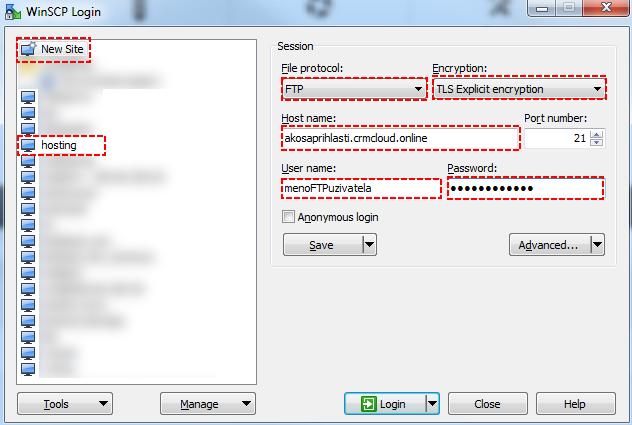 Ako použiť WinSCP