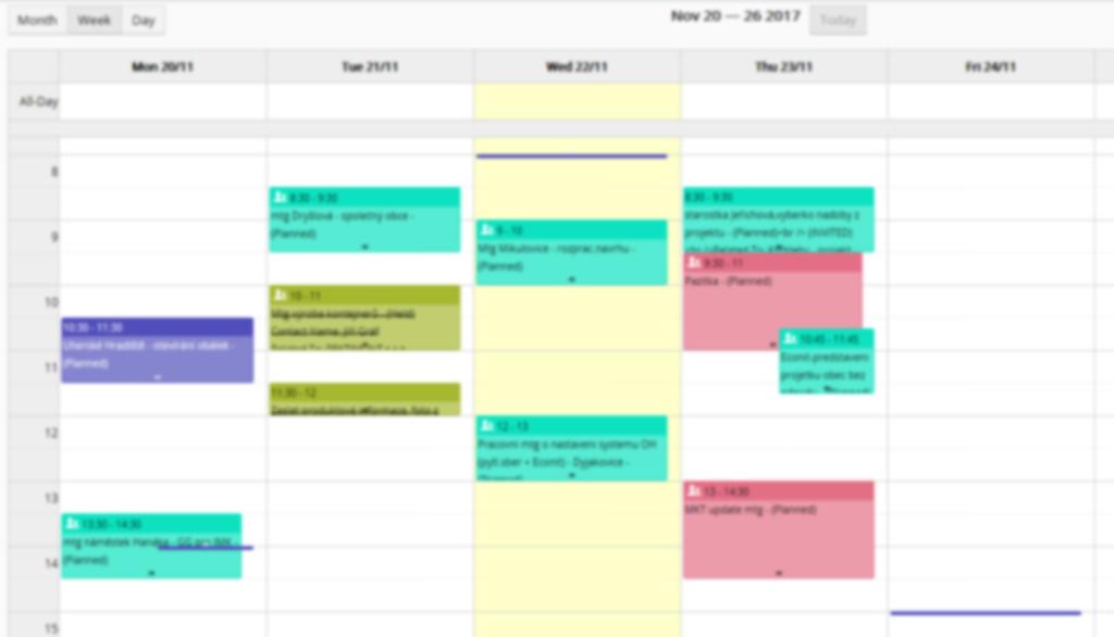CRM-Kalendar