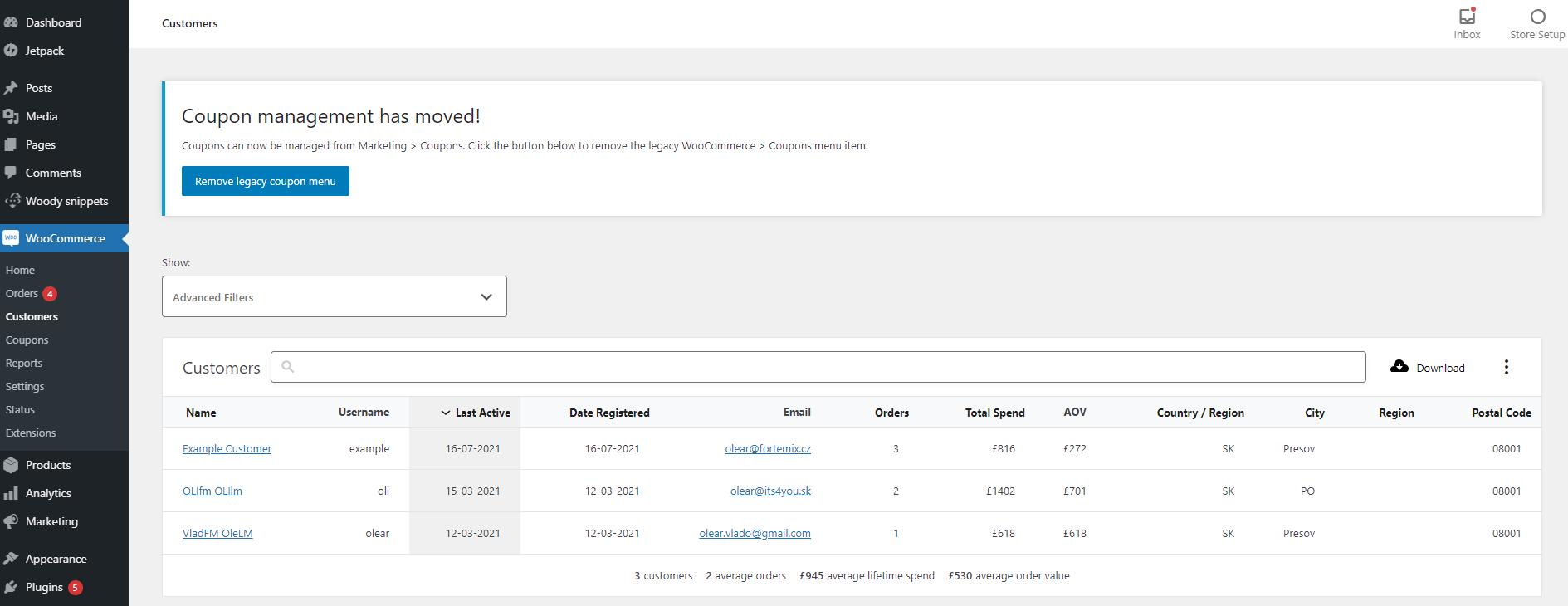Aktualizácia Klientov z WooCommerce do CRM
