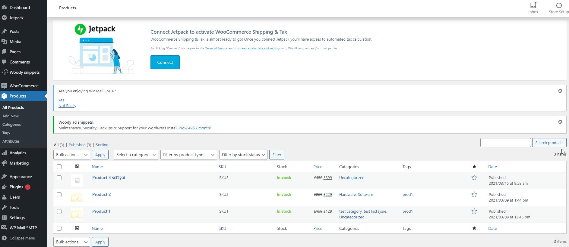 Aktualizácia Produktov z WooCommerce do CRM